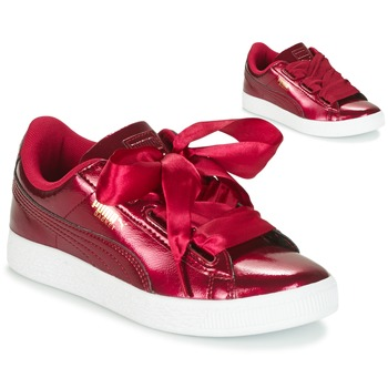 basket puma fille bordeaux